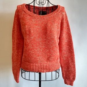 AEO Crop Sweater Size Medium All Cotton Red